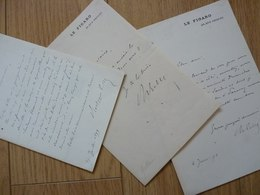 Philippe GILLE (1831-1901) Journaliste & Librettiste D'opéra. Ami Jules Verne. Académie BEAUX ARTS. 3 X Autographe - Autographes