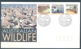 AUSTRALIA  - FDC - 10.3.1994 - CROCODILE PELICAN EMEU - Yv 1354-1356  - Lot 18648 - Premiers Jours (FDC)