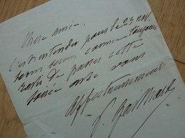 Pedro GAILHARD (1848-1918) Baryton Basse. Directeur OPERA Paris & Conservatoire NEW YORK. AUTOGRAPHE - Autographes