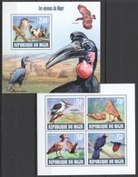 WW137 2013 NIGER FAUNA BIRDS LES OISEAUX NIGER KB+BL MNH - Oiseaux