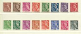 FRANCE  ( F31 - 410 )  1938  N° YVERT ET TELLIER  N° 404/416A  N** - France