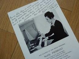 Noelie PIERRONT (1899-1988) ORGANISTE. Schola Cantorum. ORGUE. Autographe - Autographes