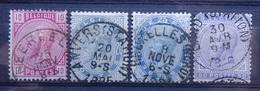 BELGIE   1883      Nr. 38 - 41   (3)    Gestempeld    CW  100,00 - 1883 Léopold II
