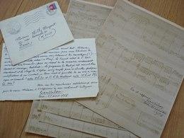 Jean VADON (1887-1973) ORGANISTE Carillonneur SAINT JEAN De MONTMARTRE Paris. Orgue. AUTOGRAPHE - Autographes
