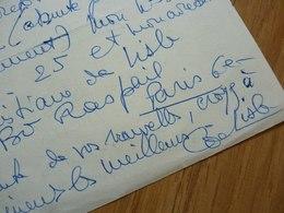 Christiane DE LISLE (1913-2009) ORGANISTE Saint Eustache Paris. ORGUE [ Olivier Messiaen ]. AUTOGRAPHE - Autographes