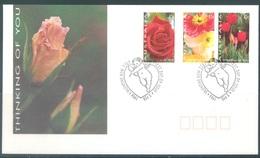 AUSTRALIA  - FDC - 3.2.1994 - FLOWERS ROSE TULIP - Yv 1349-1351  - Lot 18649 - Premiers Jours (FDC)