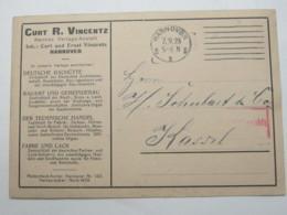 1923 , Gebühr Bezahlt , Beleg Aus  Hannover - Deutschland