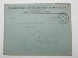 1923 , Gebühr Bezahlt , Beleg Aus  BAD LIEBENSTEIN - Deutschland