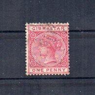 Gibilterra - 1886 - 1 Penny - Usato - Linguellato - (FDC13307) - Gibilterra