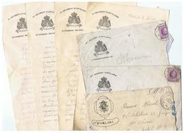 LOT CORRESPONDANCE MILITAIRE BELGIQUE 1924 - 1914-18