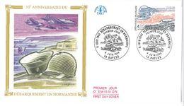 FDC 50ème Anniversaire Du Débarquement En Normandie (14 Bayeux 04/06/1994) - 1990-1999