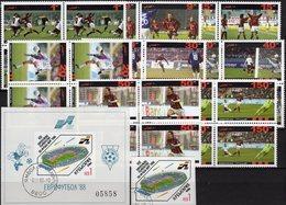 Football 1988 BULGARIA 3671,Block 178B+AFGHANES 8 Sheets 1-150 AFS ** 84€ Fußball-Stadion UEFA Bloc/sheet Bf Soccer - UEFA European Championship