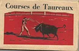 CORRIDA COURSES DE TAUREAUX  LOT CARNET DE 10 CPA COLIRISEES  TRES ANIMEE - Corrida