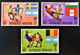 COUPE DU MONDE DE FOOT 1970 - NEUFS * - YT PA 132/34 - MI 797A/99A - Togo (1960-...)