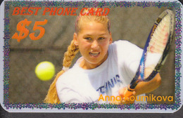 BEST TENNIS PLAYERS Of The WORLD - ANNA KOURNIKOVA  - 1 Card  RARE!!! - Sport