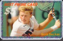 BEST TENNIS PLAYERS Of The WORLD - BORIS BECKER   - 1 Card  RARE!!! - Sport