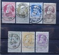 BELGIE   1905     Nr. 74 - 80      Centraal  Gestempeld      CW  45,00 - 1905 Grosse Barbe