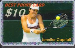 BEST TENNIS PLAYERS Of The WORLD - JENNIFER  CAPRIATI  - 1 Card  RARE!!! - Sport