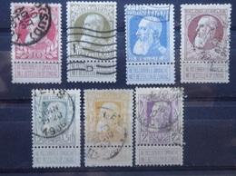 BELGIE   1905     Nr. 74 - 80      Gestempeld      CW  45,00 - 1905 Grosse Barbe