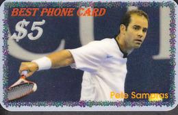 BEST TENNIS PLAYERS Of The WORLD - PETE SAMPRAS  - 1 Card  RARE!!! - Sport