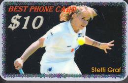 BEST TENNIS PLAYERS Of The WORLD - STEFFI GRAF  - 1 Card  RARE!!! - Sport