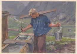 Carte Pro Juventute  No 141 : A La Fontaine, Selon C. LINER - Pro Juventute