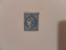 FRANCE  YT 46B TYPE CERES EMISSION DE BORDEAUX 20c.bleu Type III Report 2 Losange GC 1567 - 1870 Bordeaux Printing