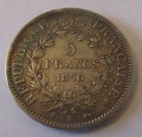 France - Monnaie 5 Hercule 1876 K - TB+ - France