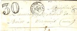 1864- Lettre De Btreteuil-s-iton ( Eure ) Cad T15 Taxe Dt 30 + L Boite Rurale De Ste Marguerite De Lautet - Marcophilie (Lettres)