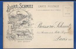 Carte  Bière SCHMITZ   Brasserie Schmitz  55 Avenue De LaMotte Picquet PARIS 15° - Arrondissement: 15