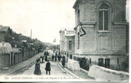 N°67822 -cpa Sainte Adresse -le Palais Des Régates Et La Rue Des Falaises- - Sainte Adresse