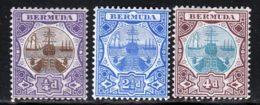 Bermudes 1906 Yvert 29 - 36 - 37 * TB Charniere(s) - Bermudes