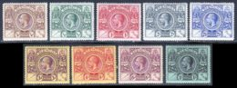 Bermudes 1921 Yvert 64 / 72 * TB Charniere(s) - Bermudes