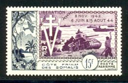 Cote Des Somalis PA 1954 Yvert 24 ** TB Liberation Bord De Feuille - Französich-Somaliküste (1894-1967)