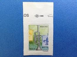 2002 BRASILE BRASIL FRANCOBOLLO NUOVO STAMP NEW MNH** STRUMENTI MUSICALI TROMBA 0,10 - Brasile