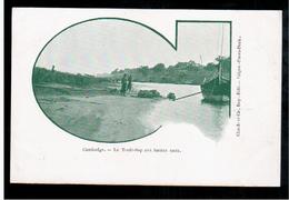 CAMBODIA  Cambodge Le Tonle-Sap Aux Hautes Eaux Ca 1910 OLD POSTCARD 2 Scans - Cambodia