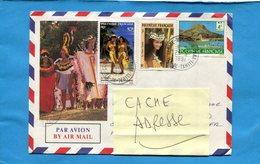 POLYNESIE*--lettre   >Françe -cad  1991-3 Stamps-N°336-371+tahitiennes+291 Raitea - Lettres & Documents