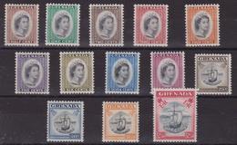 Grenada 637 * 1952 Elisabetta II Soggetti Vari SG N. 192/204. Cat. £ 65,00. MH - Grenada (...-1974)