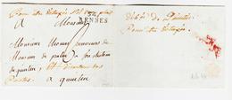 France, DEBoursé De Quintin   Manuscrit  1792  TB  Ind 17 Surprenant - Marcophilie (Lettres)