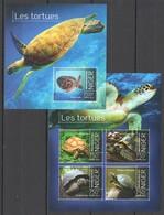 WW180 2013 NIGER MARINE LIFE TURTLES LES TORTUES KB+BL MNH - Turtles