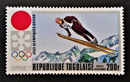 JEUX OLYPIQUES DE SAPPORO 1971 - NEUF ** - YT PA 167 - MI 8893A - Togo (1960-...)