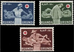 Ruanda 0202/4** Croix Rouge Du Congo - MNH - - 1948-61: Neufs