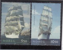 """V17 - NORVEGE - 1485 -1486  **MNH De 2005 - GRANDS VOILIERS - """" SORLANDET """" - """" STATSRAND LEHMKUHL """" - Norvège"""