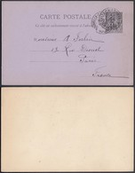 NOUVELLE CALEDONIE 1900 EP  Type Alphee Dubois 10 C De Noumea Vers Paris (5G) DC-1135 - Neukaledonien