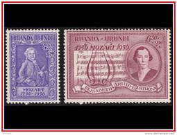 Ruanda 0200/201** Mozart  MNH - 1948-61: Neufs