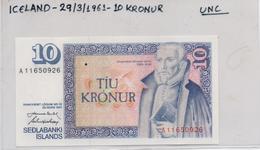ICELAND BANKNOTE 10KRON 1961(UNC)(K) - Ireland