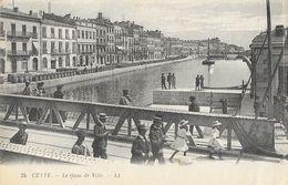 Cette (Sète) - La Quai De Ville, Grand Canal - Carte LL N° 24 - Sete (Cette)
