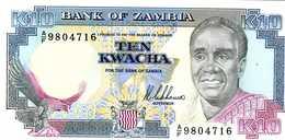 ZAMBIE - 10 Kawcha (1989-1991) - Série A/F 9804716 - P.31a - UNC - Zambie