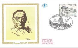FDC Georges Simenon (75 Paris 15/10/1994) - FDC