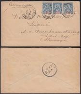 NOUVELLE CALEDONIE 1908 Yv 62 X3 Sur Lettre Recommandee De Noumea Vers Allemagne (5G) DC-1141 - Neukaledonien